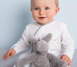 Pyjama Velours Nouky Blanc